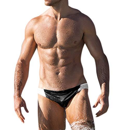 QinMMROPA Hombres bañador Slips de natación, Banador natación Slip bañadores de Surf banadores Boxer para Hombre
