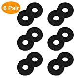 Strap Locks, Tifanso 6 Pairs Guitar Strap Locks, Premium Strap Blocks, Guitar Protector Black