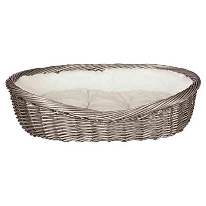 Weide Breiter, gedrehter Rand Mit Innenfutter und Kissen Kissen mit Polyestervlies-Füllung und Baumwoll-/Softplüsch-Bezug, creme Handwäsche
