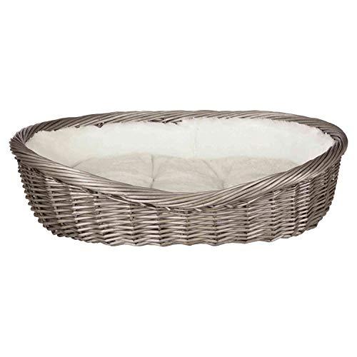 Trixie 28202 Weidenkorb mit Bezug und Kissen, 60 cm, grau