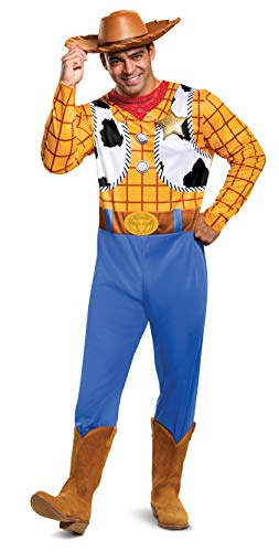 Disguise Men's Disney Pixar Toy Story and Beyond Woody Classic Costume, Yellow/Black/White/Brown, X-Large