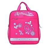 Bolso de la Escuela de impresión de Coches Arco para niños y niñas Mochilas Escolares de Gran Capacidad 2 tamaño Mochila Escolar para Adolescentes Bolsa de Libros Handbag Rose