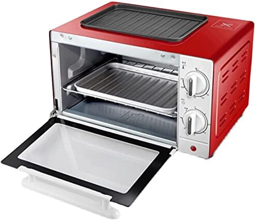 Mini horno, horno halógeno 10L Parrilla eléctrica portátil - función de la función de cocción múltiple y hornear - control de temperatura ajustable, temporizador - 1000W - Tapa de mesa con horno de to