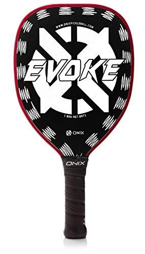ONIX Graphite Evoke Tear Drop Pickleball Paddle, Mujer Niños niña Hombre, KZ1110-WHT, Blanco