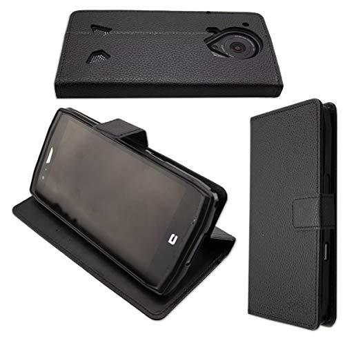 caseroxx Tasche für Crosscall Trekker-X4 Bookstyle-Hülle (mit & ohne Bildschirmschutz) (Bookstyle-Hülle, schwarz)