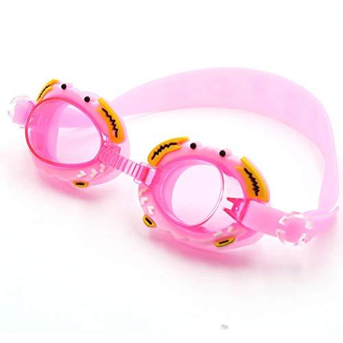 MHP Occhialini da Nuoto per Bambini Anti-Appannamento Occhiali da Nuoto HD Comodi occhialoni Carino, Rosa