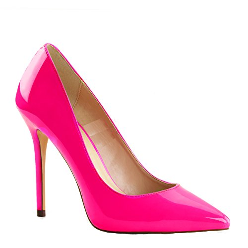 Higher-Heels PleaserUSA Pumps Amuse-20 neon Fuchsia Gr.39