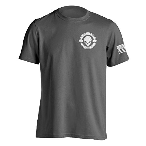 Divided We Fall Military Sniper Skull T-Shirt X-Large Charcoal