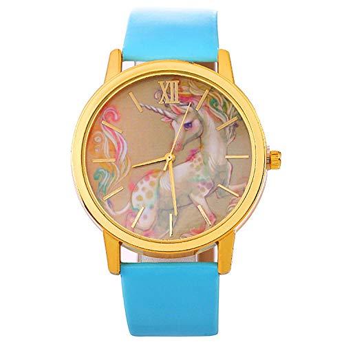 SANDA Relojes Mujer,Reloj de Pulsera Reloj de Correa de Mujer Nuevo Reloj de Estilo-Azul Claro