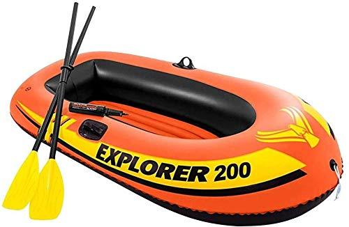 N/Z Aufblasbare Gummiboot Kajak aufblasbar im Set 2-Personen Kanu Zweier Kajak Boot mit Paddel, Pumpe Schlauchboote Kajak
