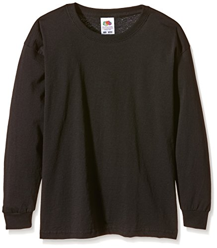 Fruit of the Loom SS019B Camiseta, Negro, Medium (7-8 años) Infantil