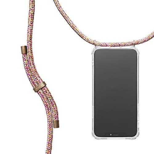 KNOK Handykette Kompatibel mit Apple iPhone 11 - Silikon Hülle mit Band - Handyhülle für Smartphone zum Umhängen - Transparent Hülle mit Schnur - Schutzhülle mit Kordel in Einhorn