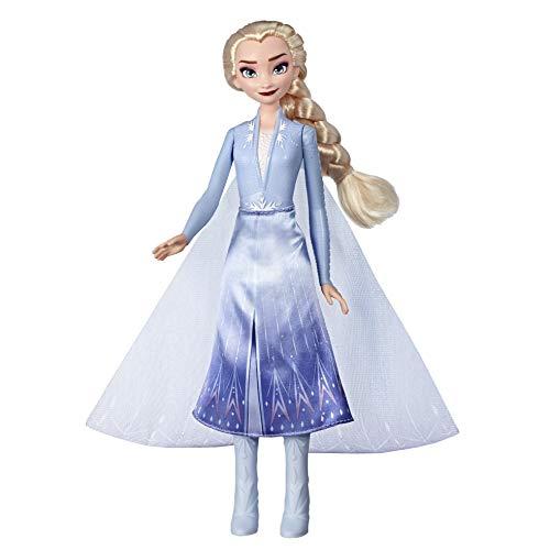Disney Die Eiskönigin Lichtzauber ELSA, aufleuchtende Modepuppe, inspiriert durch Disneys Die Eiskönigin 2 – Spielzeug für Kinder ab 3 Jahren