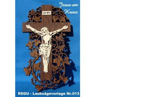 REGU Laubsäge-Vorlage - Jesus am Kreuz Nr. 013