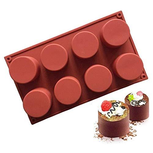 8 gaten siliconen cakevorm Ronde Chocolate Jelly Pudding Mold Fondant Cake Decorating Tool handgemaakte zeep mallen for Bakken