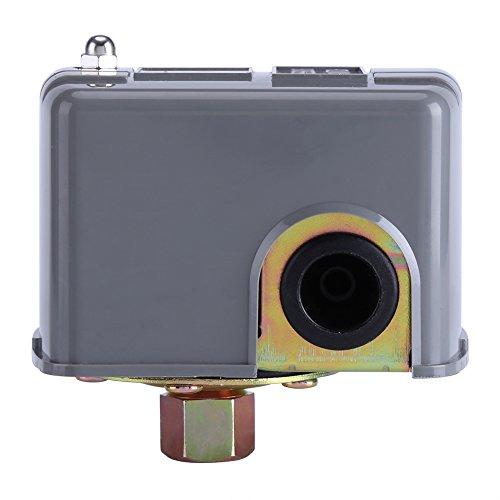presostato 12v agua-Duokon Interruptor de control de presión de bomba de agua de metal + plástico Poste de resorte doble ajustable