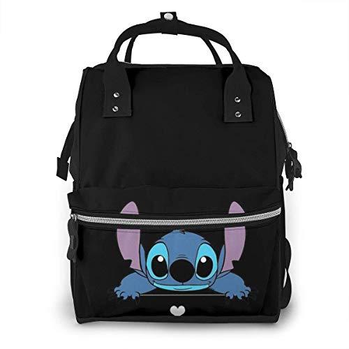 NHJYU Bolsa de pañales Mochila - Stitch Multifunction Waterproof Travel Mochila Maternity Baby Nappy Changing Bags