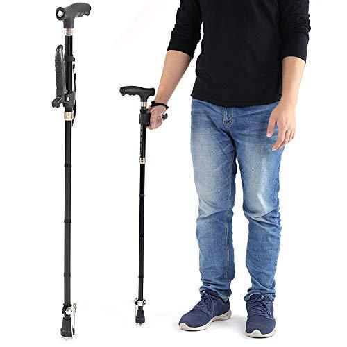 Bastón plegable, bastón caminar guía ajustable
