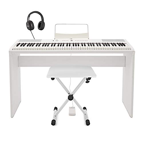 SDP-2 Stage Piano by Gear4music + Complete Pack, White