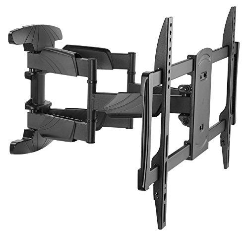 RICOO S5064, TV Wandhalterung, Schwenkbar, Neigbar, Universal 37-65 Zoll (94-165cm), TV-Halterung, für Curved LCD LED Fernseher, VESA 300x200-600x400