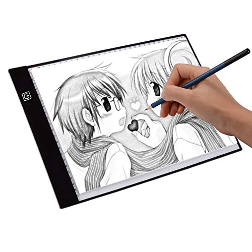 Yeahmart Ultra-thin LED A4 Light Box Copy Board Drawing Light Pad with USB cable