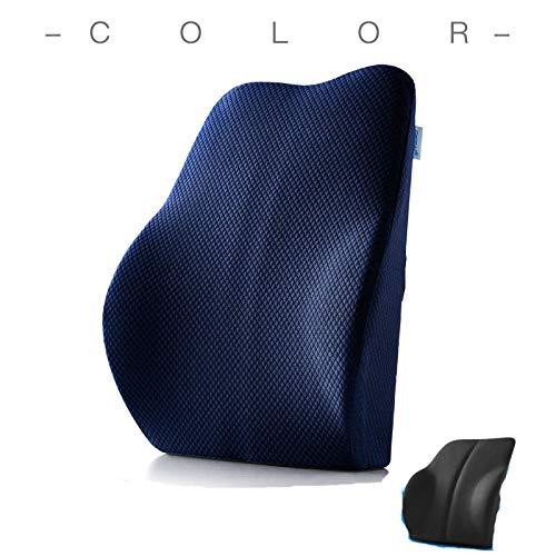 Cnoyz cushion seat Sitzkissen Memory Baumwolle Kissen Memory Baumwolle Büro Lendenkissen Auto Taille blau Navy 2_43 * 39 * 11-7cm