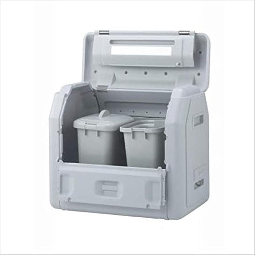 予知見分ける着る四国化成 ゴミストッカーEPシリーズ GSEPA100B-LG EP1000 内容器付 アンカータイプ 『ゴミ収集庫』『ダストボックス ゴミステーション 屋外』『ゴミ袋(45L)集積目安 22袋、世帯数目安 11世帯』 内容器付