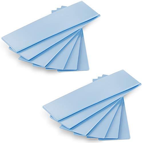POPPSTAR 12x Wärmeleitpad für M.2 SSD (3 Stärken, je 4 Stück 0,5 mm / 1,0 mm / 1,5 mm) mit Wärmeleitfähigkeit 6 W/mk, Farbe Blau