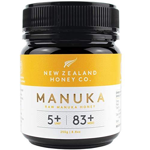 New Zealand Honey Co. Manuka Honig MGO 83+ / UMF 5+ | Aktiv und Roh | Hergestellt in Neuseeland | 250g