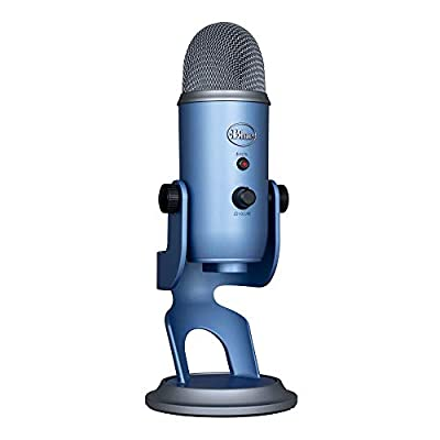 Blue Microphones Yeti Professional USB Microphone For Recording, Streaming, Podcasting, Broadcasting, Gaming, VOICE overs, and More, Multi-Pattern, Plug 'n Play on PC and Mac - Light Blue