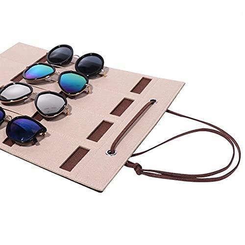 Chytaii Organisateur suspendu pour lunettes de soleil, pour salle de bain, salle de séjour ou tout autre espace approprié rose