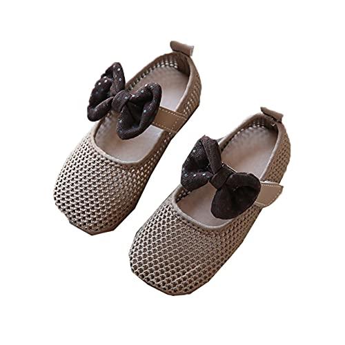 Zapatos para niños pequeños Malla Transpirable Bonito Lazo Suela Suave Zapatos de Princesa para niñas cómodos Zapatos Planos Antideslizantes Mary Jane