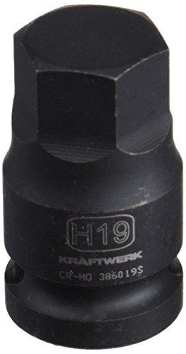 Kraftwerk 386019S 1/2 Zoll Innensechskant-Bit-Schlag-Stecknuss 19mm