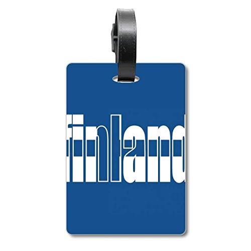 Etichetta per valigia con bandiera della Finlandia