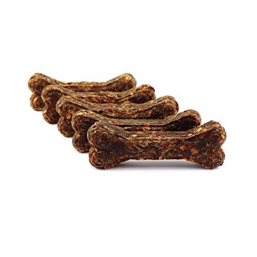 DOGBOSS Kauknochen mit Cistus Incanus (Zistrose) aus 100% natürlichen Zutaten speziell für Welpen & Seniorhunde in verschiedenen Größen und Geschmack (5er mit Cistus Incanus und Ente & Apfel, 12 cm)