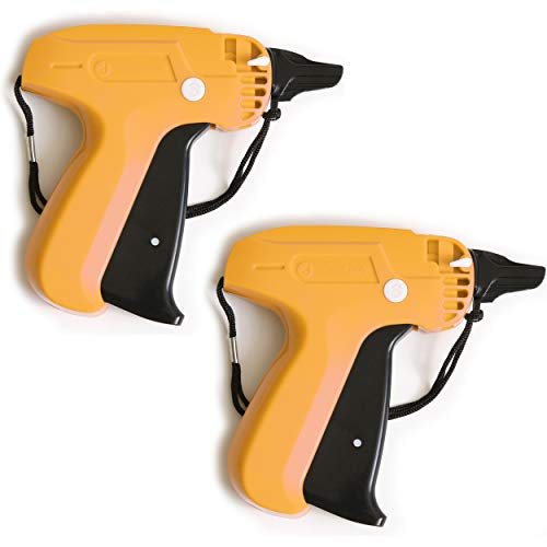 Tagging Gun Set (2 Pack) - Handheld Security and Pricing Label Tag Applicator for Boutiques, Family Yard Sales, Flea Markets & Warehouses - Standard Fastener Attachments