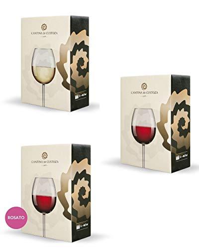 Bag in Box Misto - 3 confezioni da 5 litri - 5 litri di Pinot Grigio Garda DOC IGT - 5 litri di...