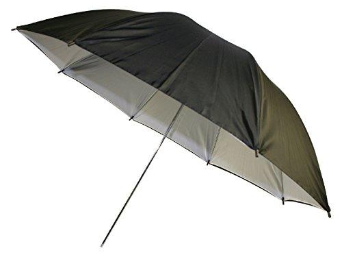 Paraplu, wit/zwart, 36 inch