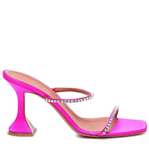 Sandalias de tacón, zapatos de corte cómodos casuales de talla grande para trabajo de oficina y fiesta de graduación, sandalias de verano con punta abierta, zapatillas sin cordones para mujer,Pink-40