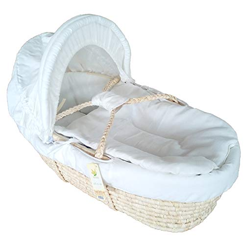 GOUO@ Baby Moses Basket Infant Schlafkorb Portablebaby Wiege Bett Waffel Auto Outing Basket Für 0-6 Monate