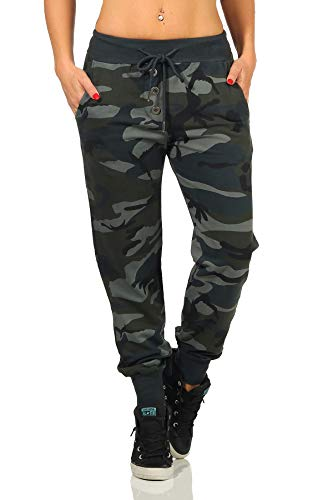 Danaest Damen Sporthose Camouflage (499) (L, Armee)