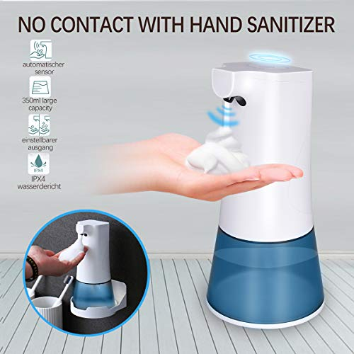 upstartech Automatisch Desinfektionsspender berührungslos wandmontage Sensorspender mit schaumseifenspender Lnfrarotsensor USB-Aufladung für Küchen und Badezimmer Waschraum/öffentlicher Ort 350ml