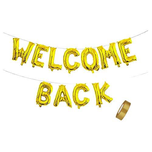 Willkommen zurück Brief Ballon Banner Bunting für Welcome Back, Home Coming, Back to School, Reunion und Home Family Party Dekorationen