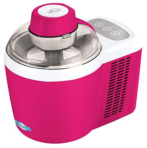 Maxi-Matic EIM-700BR Freezing Self-Refrigerating Ice Cream Maker, Frozen Yogurt, Sorbet, Gelato Treat, 1.5 Pint, Raspberry Pink