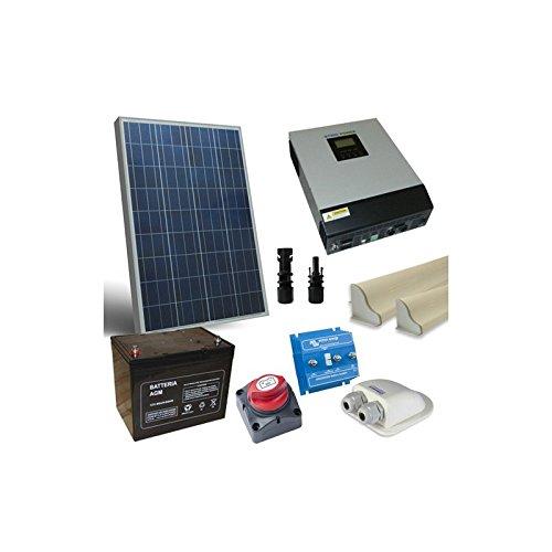 Kit Solar para Ambulantes 100W 12V Pro Placa Accesorios Inversor 1200W 12V