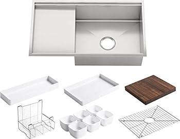 KOHLER K-3760-NA Stages 33-Inch Stainless Steel Kitchen Sink