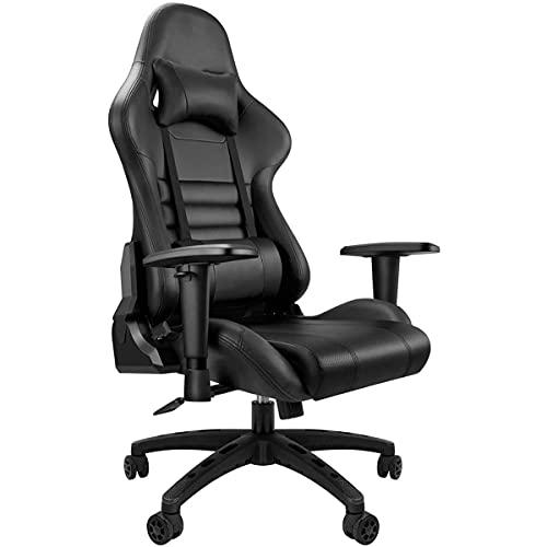 Juegos, silla del ordenador ergonómico, Silla alta resistencia ajustable de 180 grados descansa compitiendo con silla de estilo de juego con reposacabezas y reposabrazos Soporte lumbar ( Color : C )