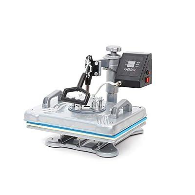 "Heat Press Machine 12x10 inch Digital Industrial Sublimation Printer Machine Heat Transfer Machine for T-Shirt Heat Press Vinly Heat Press (Gray, 12"" x 10"")"
