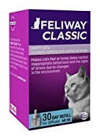 The No1 clinically proven cat behaviorual product. Backed by over 25 years of science & research into pet welfare Contains the 'feline facial' pheromone. A natural pheromone a cat releases when they rub up against something to mark an area as safe an...