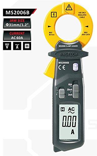 MASTECH ms2006b alta sensibilidad AC fuga pinza amperimétrica 0,001resolución Ma–negro + amarillo